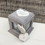 Shabby Chic PERSONALISED Rustic Wood Auntie Aunty Aunt Gift ANY NAME Photo Cube - 253968406624